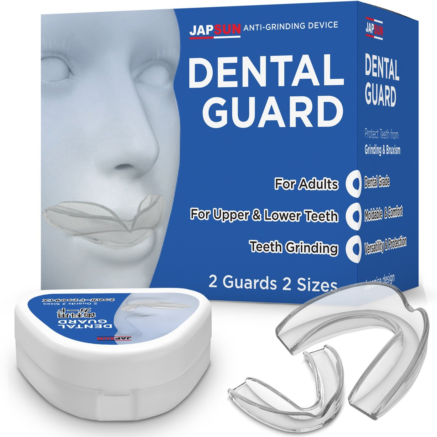 Dental Mouth Guard - Custom Moldable Night Guard - Pack of 2 Big and Small - Bite Splints for Sleeping (J1)