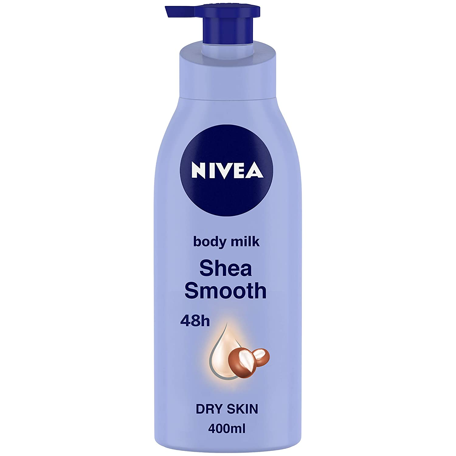 [Apply Coupon] NIVEA Body Lotion, Shea Smooth Milk, For Dry Skin, 400 ml