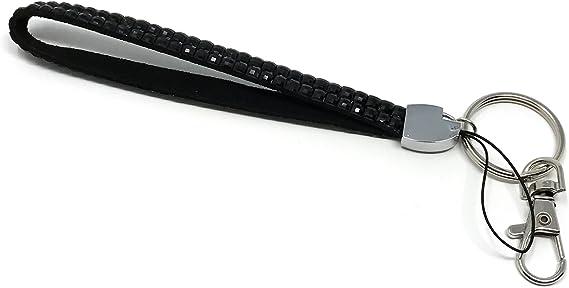 Lux Leather Strap Eagle w// Blue Rhinestone Eyes Universal Fit Keystrap Keychain