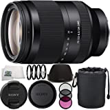 Sony SEL24240 FE 24-240mm f/3.5-6.3 OSS Lens 12PC Accessory Kit Includes Manufacturer Accessories + 3PC Filter Kit (UV-CPL-FLD) + 4PC Macro Filter Set (+1,+2,+4,+10) + Lens Pouch + Cleaning Cloth