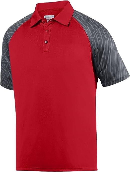 Augusta Sportswear Men/'s Three Button Short Sleeve Sport Polo Shirt 5404