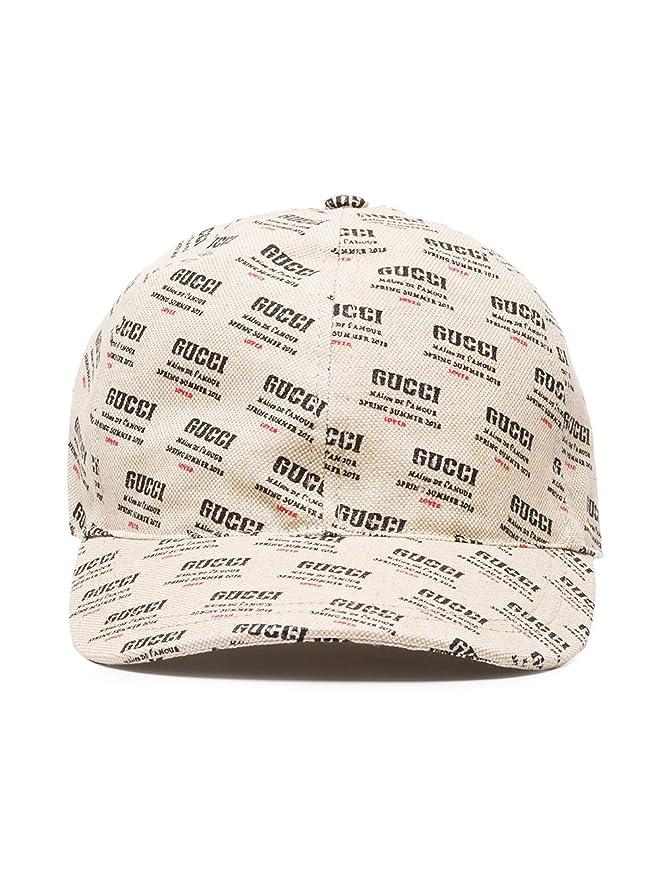 Gucci - Gorra de béisbol - para Hombre Beige Beige Small: Amazon.es: Ropa y accesorios