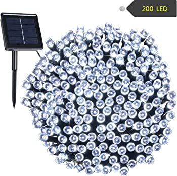 RockBirds 72ft 22M 200 Solar String Outdoor String Lights