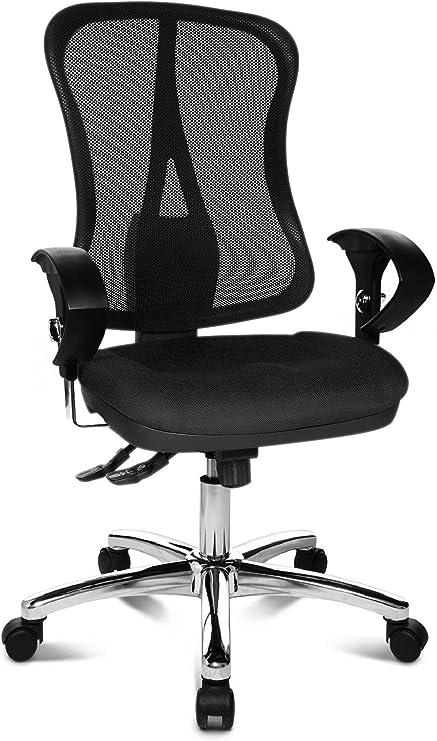 Topstar Head Point SY Deluxe, ergonomischer Bürostuhl, Schreibtischstuhl, inkl. Armlehnen, Stoff, schwarz