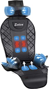 Sotion Back Massager with Air Compress & Heat for Car,Shiatsu Back Massager for Home,Office Chair Use,Electric Full Body Massager Helps Relieve Stress and Fatigue for Neck,Back and Hips