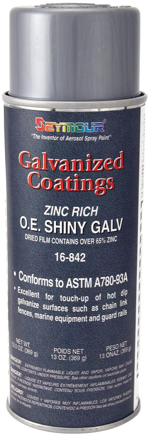 Seymour 16-842 Galvanized Coatings Spray Paint, OE Shiny