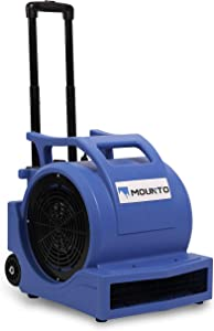 MOUNTO 3-Speed 1Hp 4000 Plus CFM Monster Air Mover Floor Carpet Dryers with Handle Wheelkit (Blue)