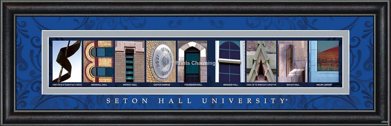 Seton Hall University-Seton Hall Prints Charming Letter Art Framed Print Bold Color Border