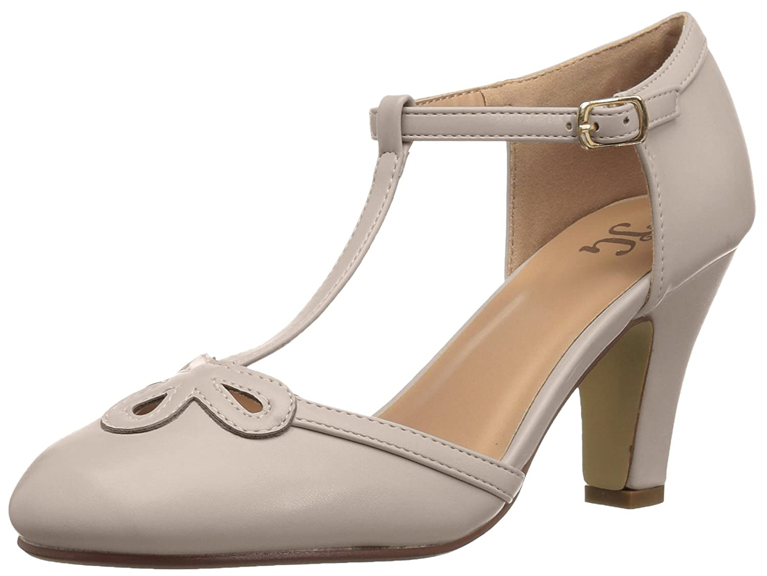 Vintage Style Shoes, Vintage Inspired Shoes Brinley Co Womens Patsie Pump $36.44 AT vintagedancer.com
