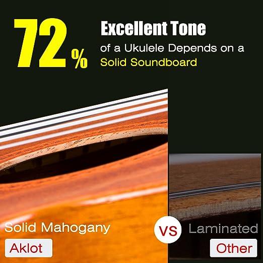 Amazon Aklot Tenor Uke Electric Ukele 26 Inch Solid Mahogany