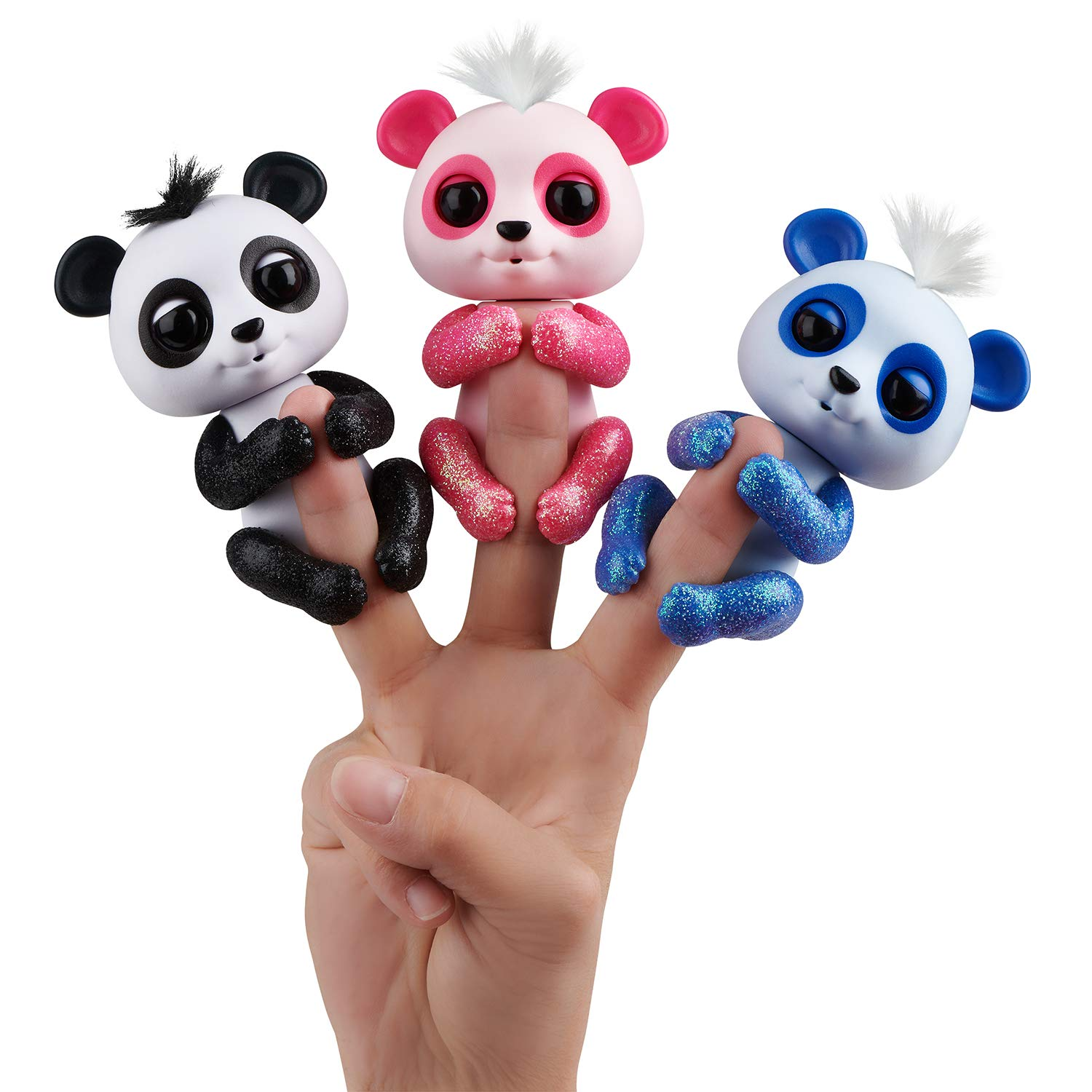 WowWee Fingerlings Glitter Panda - Polly - Interactive Collectible Baby Pet, Pink by WowWee (Image #4)