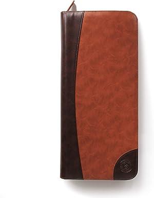 Tie Case Vegan Leather Travel - 6 Neck Tie Organizer by Case Elegance
