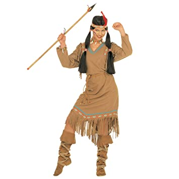 Widman - Disfraz de indio del salvaje oeste para mujer, talla S (S ...