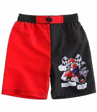 6eabeaa3b1 Super Mario Bros Boys Swim short - black - 10 yrs: Amazon.co.uk ...