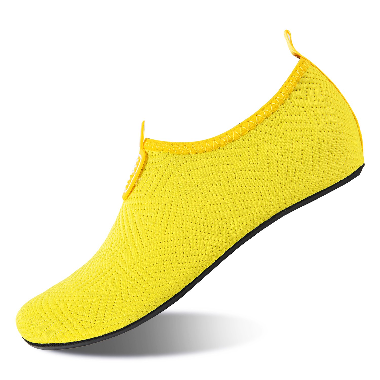 YUANHYUA Womens Water Shoes Barefoot Quick-Dry Aqua Socks for Beach Swim Surf Yoga Exercise yinhua-yellow-41-42