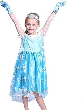 Anladia - Disfraz de Elsa Frozen Prestige para niña Talla 120 130 ...