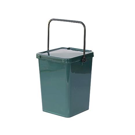 Cubo para compost grande, verde, de cocina, para reciclaje de residuos alimenticios, cubo de plástico para compostaje de 10 litros.: Amazon.es: Hogar