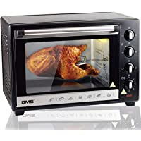 DMS® 48L Mini-Backofen mit Drehspieß Umluft Pizzaofen Ofen, Backofen mit Innenbeleuchtung, Timer 2000 Watt herausnehmbares Krümelblech OCR-48D