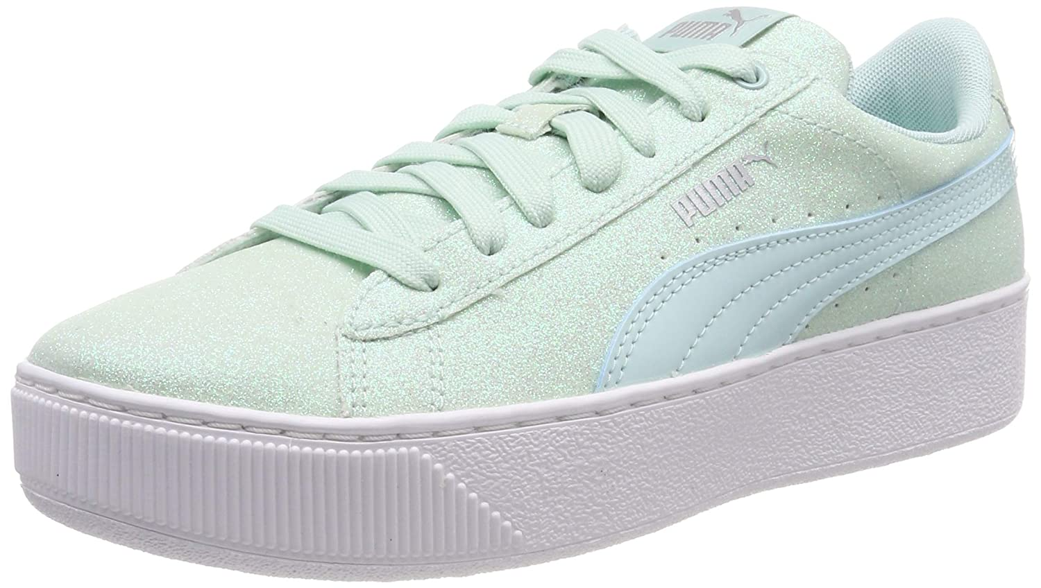 ec53c18f8c3 Puma Girls Vikky Platform Glitz Jr Low-Top Sneakers  Amazon.co.uk  Shoes    Bags