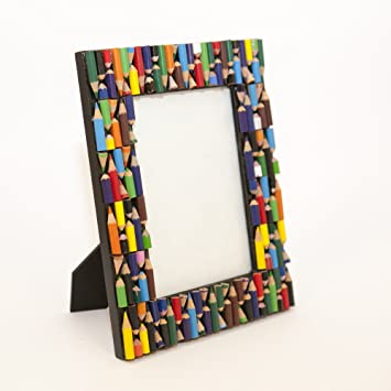 Photo Frame   Recycled Pencils   Hand Crafted Frame By Simply Natural Bliss    7x5 In