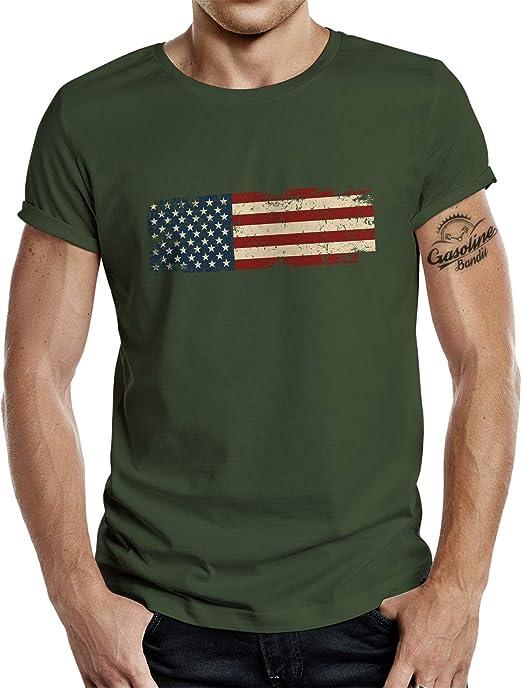 Camiseta de la bandera de EE. UU.: Amazon.es: Ropa y accesorios