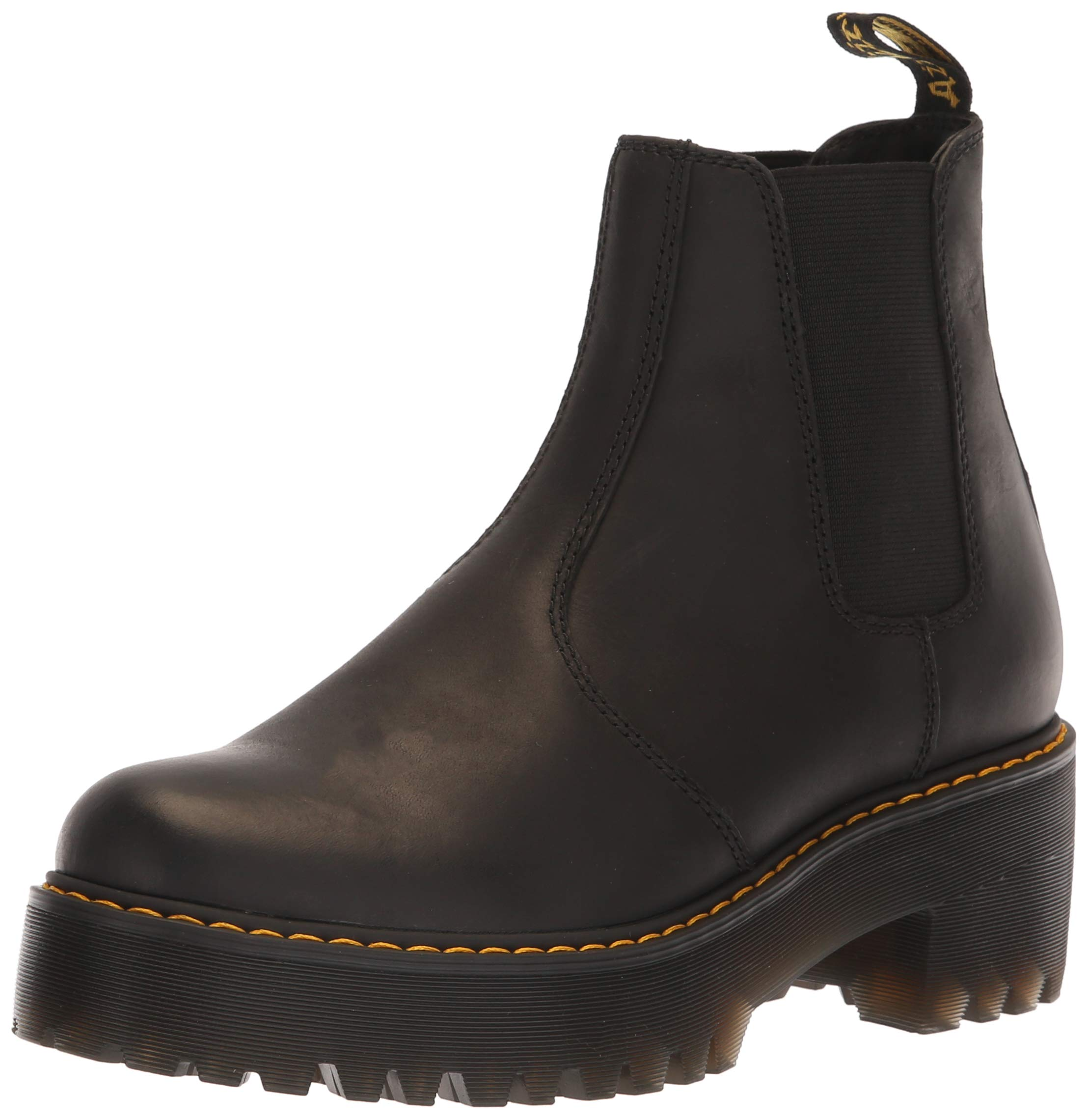 Dr. Martens Women's ROMETTY Fashion Boot, Black, 5 M UK (7 US) by Dr. Martens