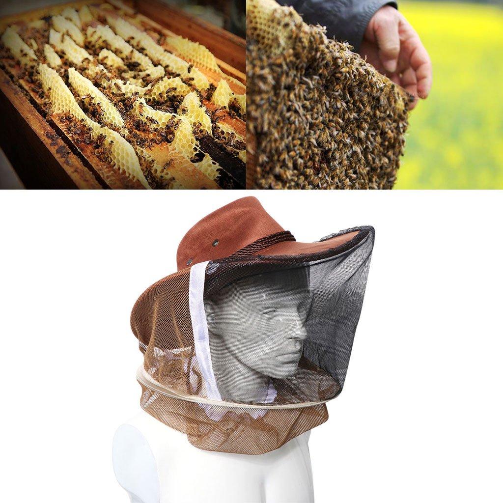 Equipo de Camping Gorro con Red de Malla para la Cabeza Protecci/ón para la Cara al Aire Libre Pesca Jiamins Beekeeper Bee Hat Antimosquitos Bee Bug Insect Fly Mask