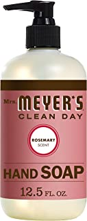 product image for Mrs. Meyer's Clean Day Liquid Hand Soap, Cruelty Free and Biodegradable Formula, Rosemary Scent, 12.5 oz