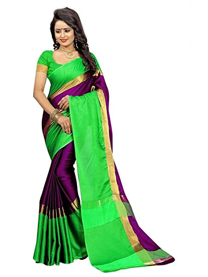 1ab4318bba17c6 Alka Fashion Cotton Silk Saree (AFS233S_Orange_Free Size): Amazon.in:  Clothing & Accessories