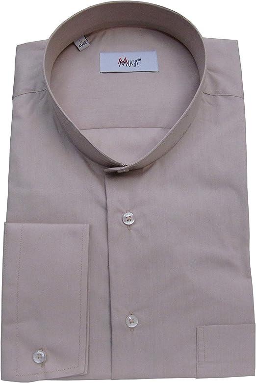 MMUGA - Camisa de cuello alto para hombre: Amazon.es: Ropa y accesorios