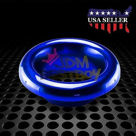 "3.5/"" Blue Short Ram Air Intake Turbo Horn Aluminum Velocity Stack Silicone Hose"
