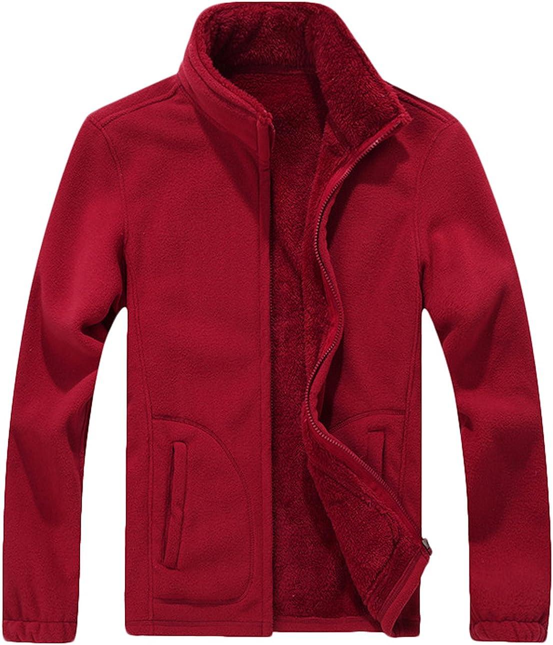Youhan Mens Winter Thicken Full Zip Polar Fleece Jacket