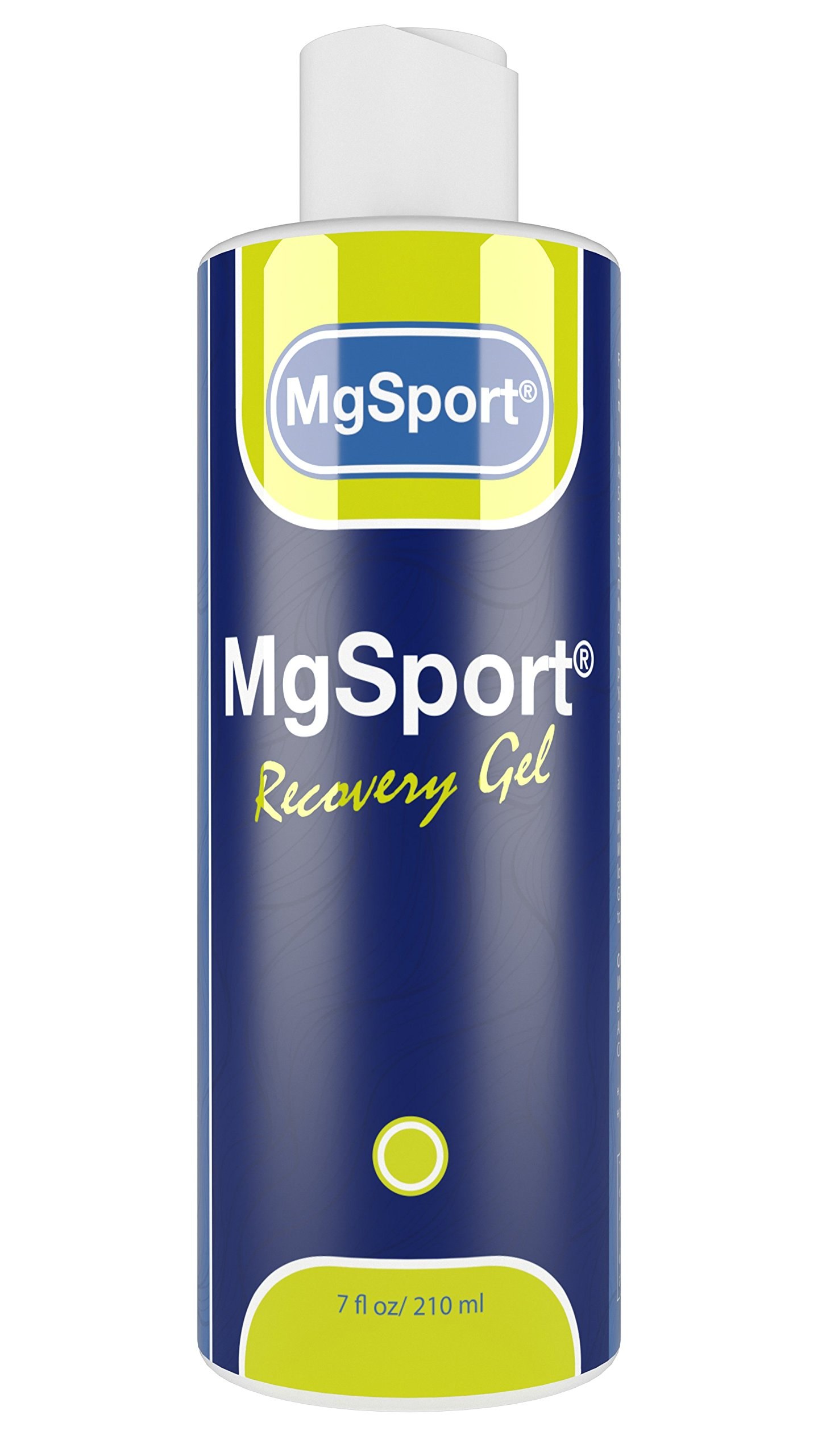 High Absorption Magnesium Gel for Leg Cramps - 7 oz. Recovery Gel from The Dead Sea for Sore Muscles and Restless Leg Syndrome - Less Itch & Less Sting Than Magnesium Oil by MgSport