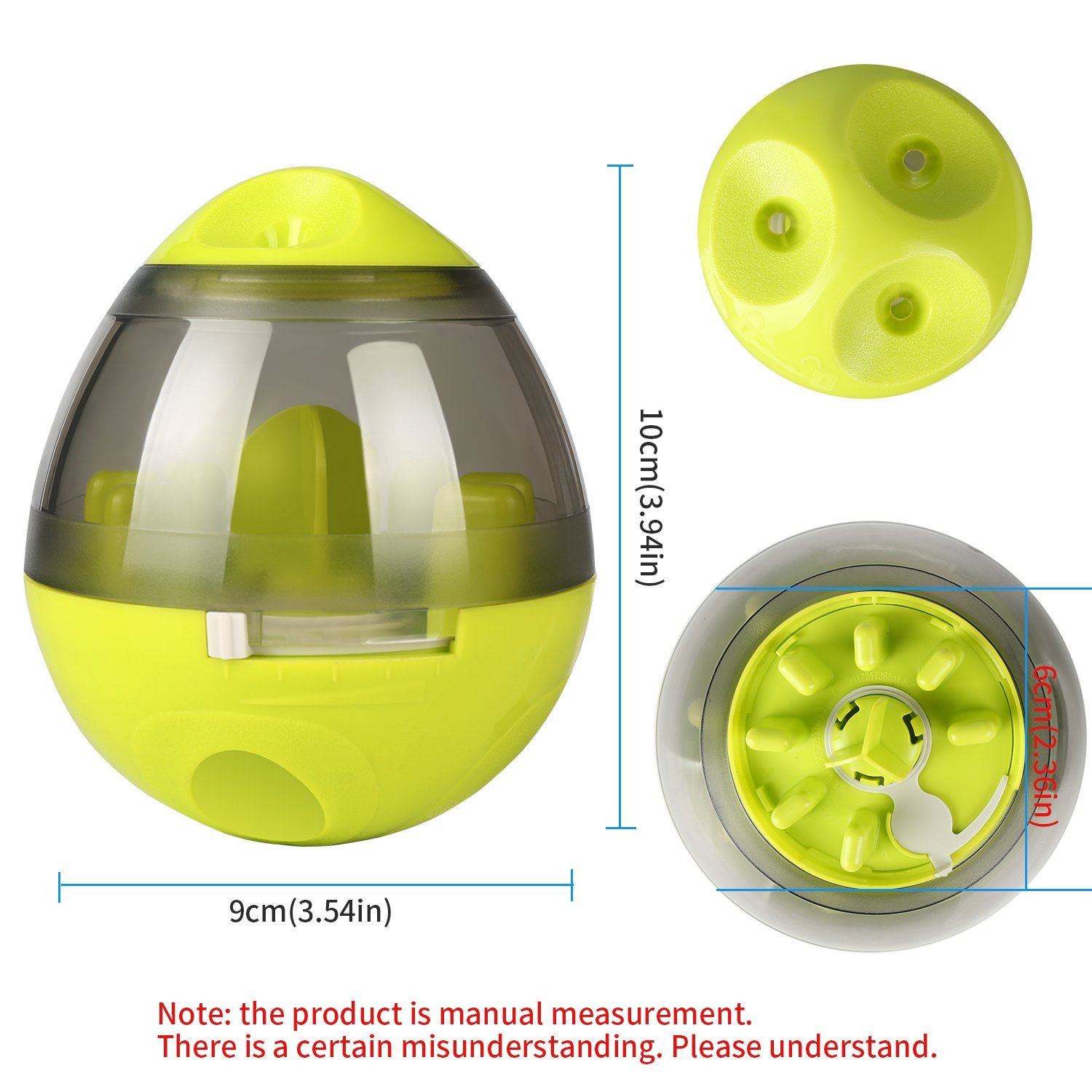 KAOSITONG Interactive Dog Toy,Interactive Food Dispensing Ball Dogs Cat Increases IQ & Mental Stimulation,Slows Down Eating,Promoting Active Healthy Feeding Small Medium Large Dogs,Easy to Clean by KAOSITONG (Image #3)