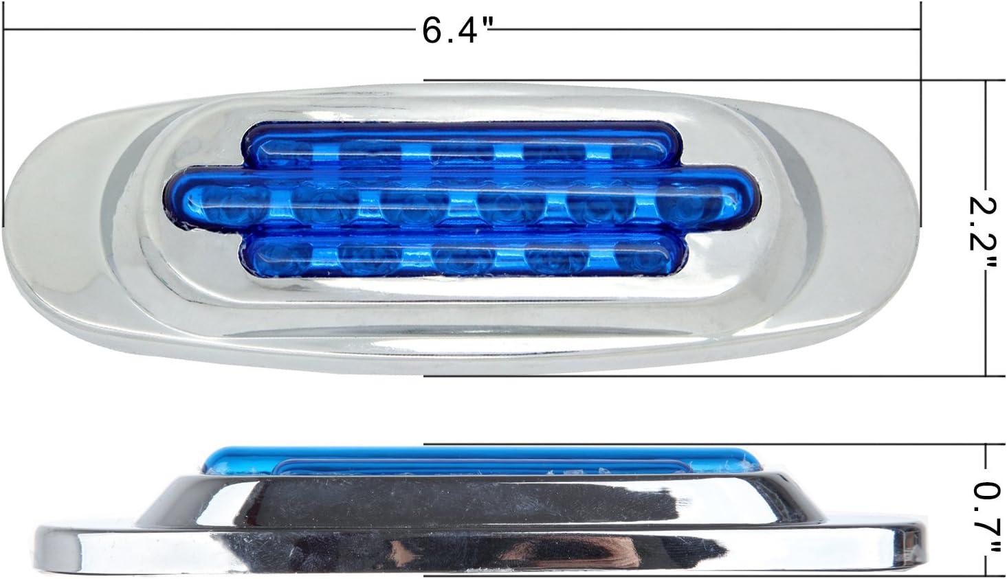 cciyu 4Yellow 4 Blue Led Marker Light Clearance Universal Flush Mount 16 LED Bumper Light 4 Pack Blue Marker Lights + 4 Pack Yellow Marker Light
