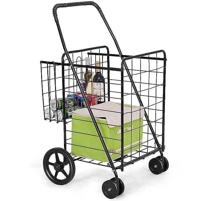 6bbb8fce0ec3 Amazon.com : Picotech Shopping Cart Steel Black Premium Durable ...