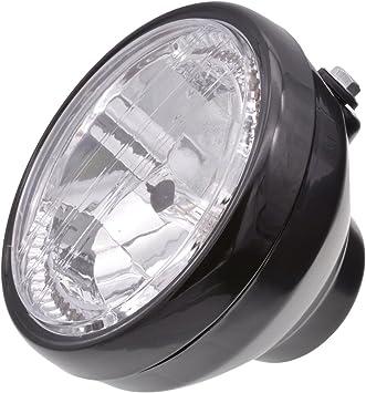 """7/"""" 2835 LED Black Universal Motorcycle Headlight White Light For Harley"""