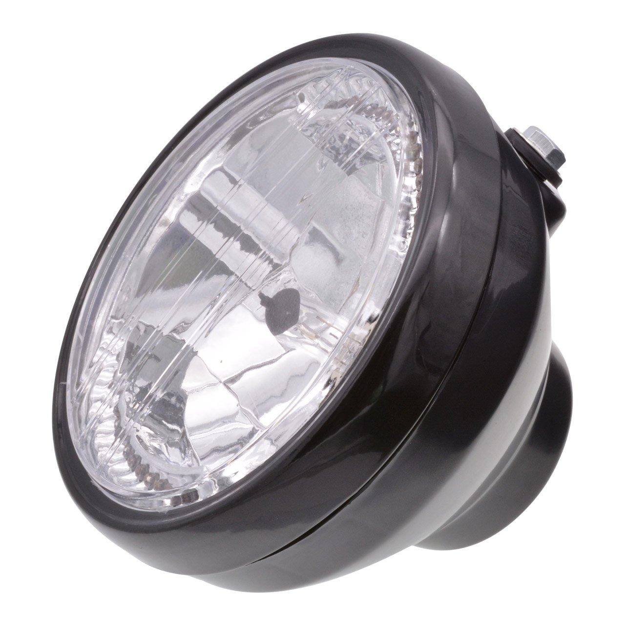 KaTur 1Pcs 12V 10W Motorcycle Tail Light Stop Licenses Brake Lamp for Chopper Bobber Cafe Racer,Bullet Steel Housing Motos Light for Harley