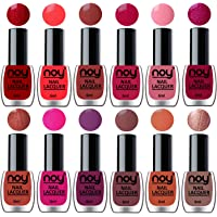 NOY® Nail Polish Sets of 12 Quick Dry One Stroke Color in Wholesale Rate 6 ml each(Metallic Brown, Tan, Brown, Wine, Pink, Copper, Magenta, Carrot Pink, Peach, Brown, Neon Orange, Red)