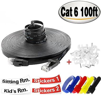 Amazon. Com: 100 ft cat5 cat5e rj45 patch lan network ethernet.