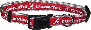 Pets First Collegiate Pet Accessories, Dog Collar, Alabama Crimson Tide, Medium