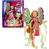 World of Winx - Dreamix Fairy - Flora Poupée 28cm avec Robe Magique