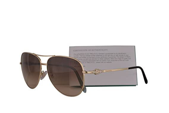 fc2c29c1c3cd Image Unavailable. Image not available for. Colour  Tiffany   Co. TF3052B Sunglasses  Pale Gold w Brown Gradient ...