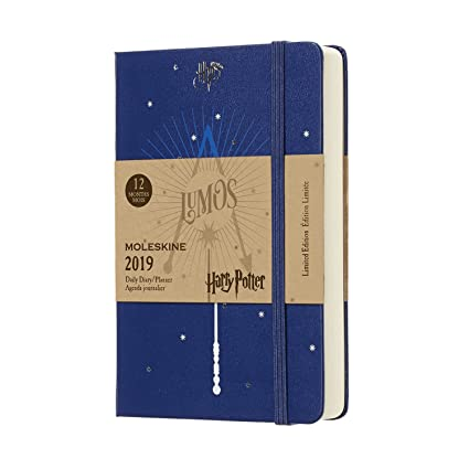 Moleskine Limited Edition Harry Potter Hard Cover 2019 12 Month Daily Planner, Pocket Size (3.5