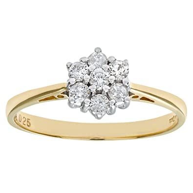 Naava 18ct Yellow Gold Ladies 25pt Diamond Ring FDr70