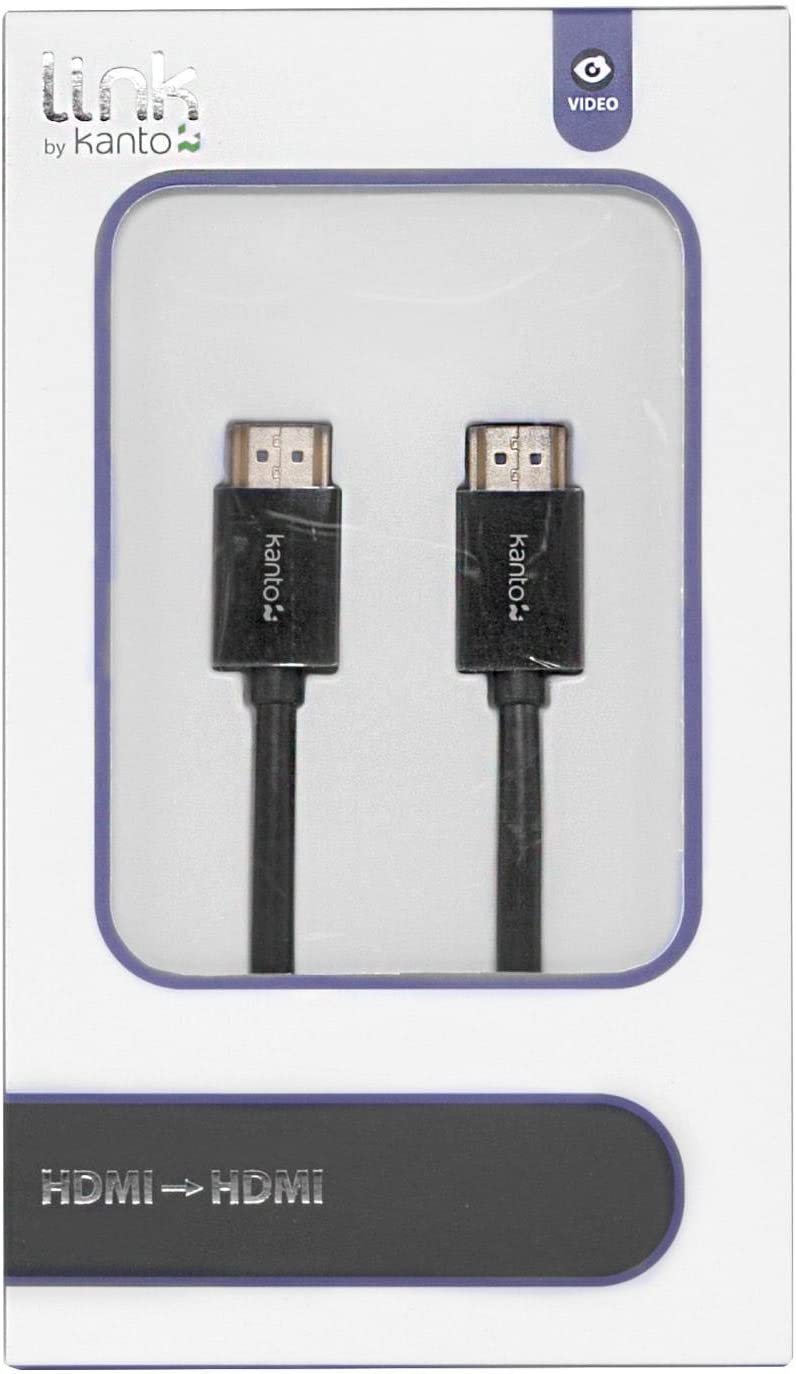 0.5-Meter 1.7-Feet Male to Male Kanto P11-0500W HDMI to HDMI Cable White