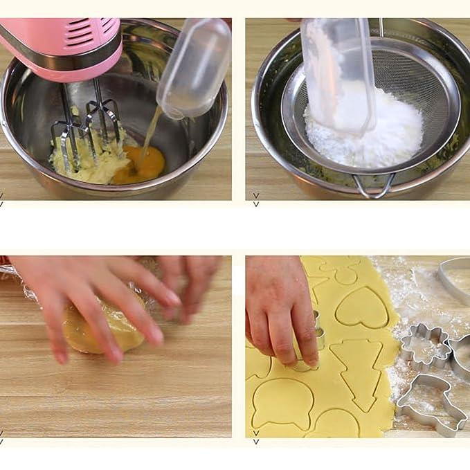 Amazon.com: eDealMax gato en forma de galleta de la torta de pan para hornear Herramientas de bricolaje molde del cortador 10pcs tono de plata: Kitchen & ...