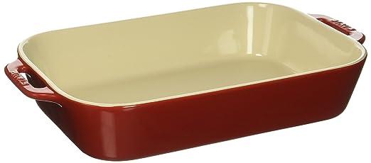 Staub 40508 595 Ceramics Rectangular Baking Dish, 13x9 Inch, Cherry by Staub