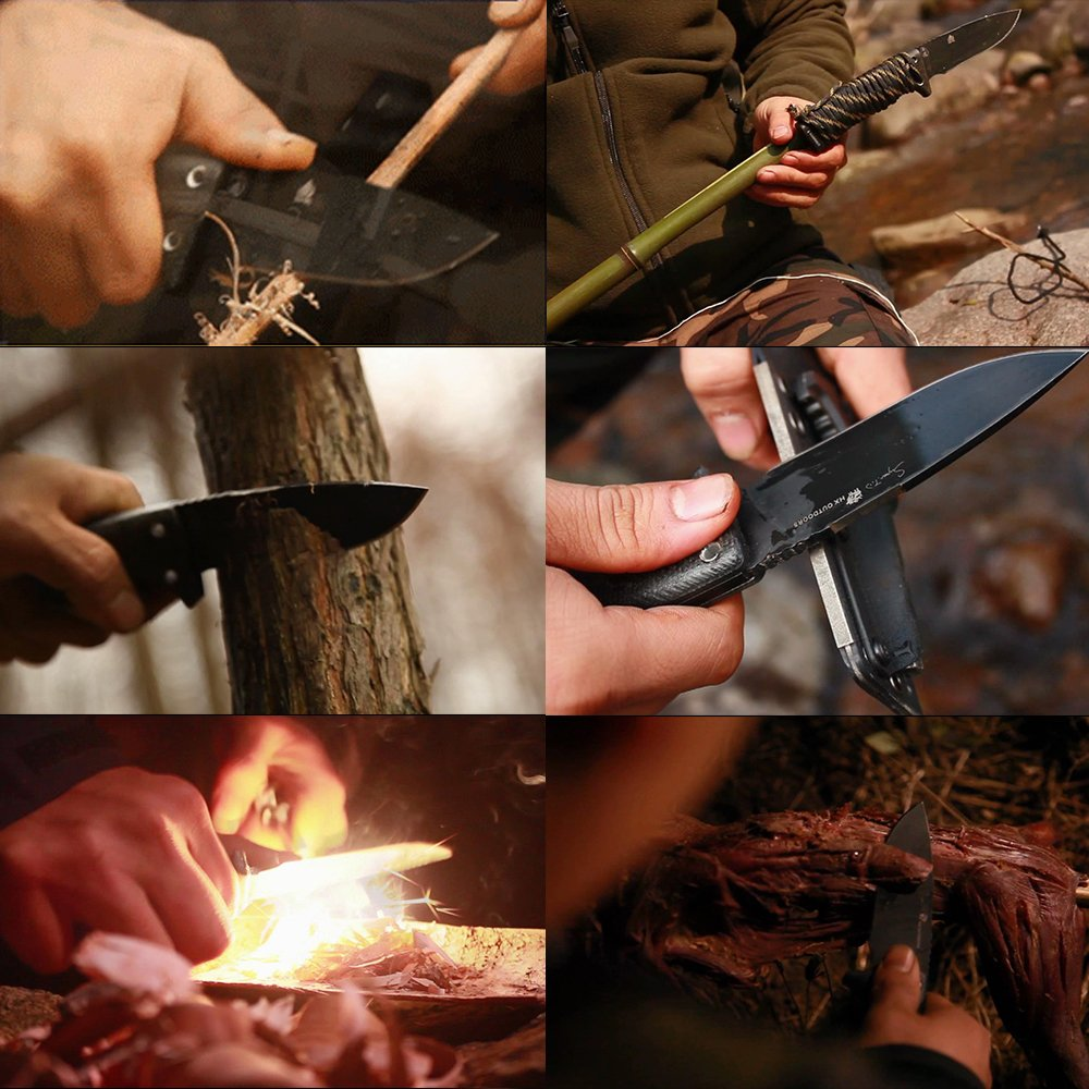ROCK Special forces tactical knife outdoor hunting camping Army Knives military tactical knife Fixed Blade