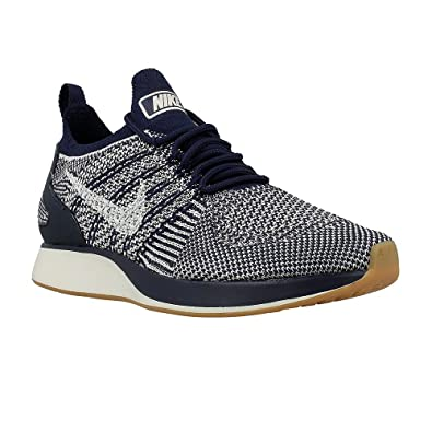 6d95bce28 Nike - Air Zoom Mariah Flyknit Racer - 917658400 - Color: White-Navy Blue -  Size: 8.0: Amazon.co.uk: Shoes & Bags